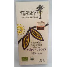 Barra de chocolate con pulpa de cacao