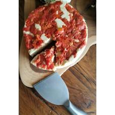 Queso de chocho (vegano) con tomate deshidratado